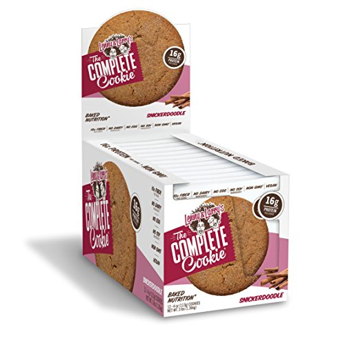 Lenny and Larry's The Complete Cookie, Snickerdoodle , Soft Baked,  16g Plant Protein, Vegan, 4-Ounce (Pack of - Snickers Cookie