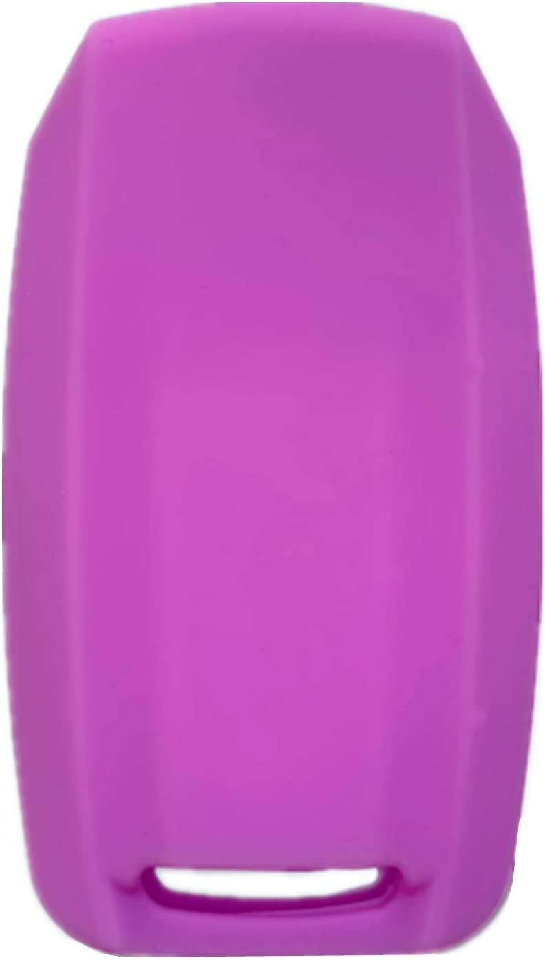 Rpkey Silicone Keyless Entry Remote Control Key Fob Cover Case protector Replacement Fit For 2019-2020 RAM 1500(5-Button)Violet