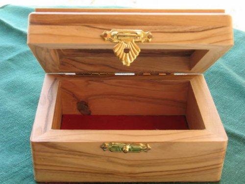 Jewelry Keepsake Box Olive Wood Olivewood Israel Holy Land Christian Gift LRG