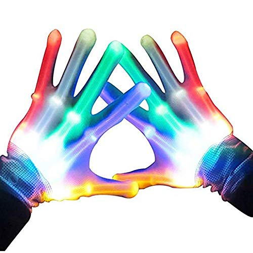 LED Cool Gloves, Carnival Light up Gloves - Extra Batteries