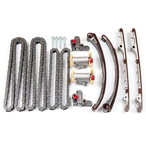 OCPTY Timing Chain Kit Tensioner Guide Rail fits for 00-01 Jaguar S-Type XKR Vanden Plas 4.0L V8 DOHC TK123456 ()