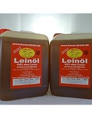 Leinöl aus erster Kaltpressung, 2x 5 Liter