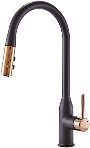 Comllen Best Commercial Single Handle High Arc Gold And Matte Black Pull Down Kitchen Faucet,New Italian Design Kitchen Sink Faucets With Pull Out Sprayer