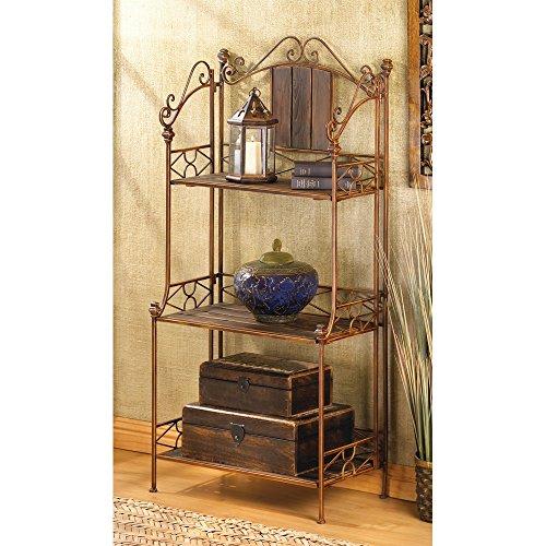 Bakers Rack, Industrial Kitchen Rustic Bakers Rack Metal With Storage (brown)
