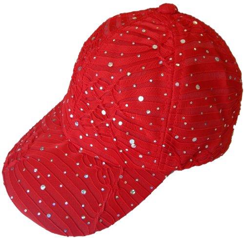 Sparkle Baseball Caps (Red)