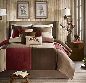 Amazon.com: Madison Park Jackson Blocks Queen Size Bed