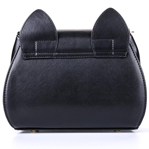 Black Body Handle Fashion Cat Top Shoulder 3 Summer Bag Cross Women's Cute QZUnique PwqOFCO