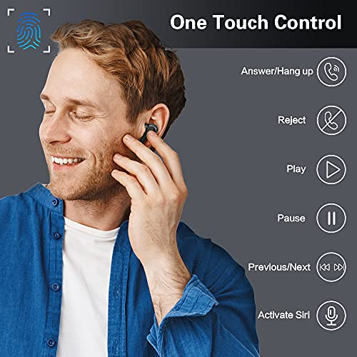 Cuffie Bluetooth Senza Fili, Doubc In-Ear Auricolari Bluetooth 5.0 IP7 Impermeabili Hi-Fi Stereo con Microfono, 32 Ore di Riproduzione Auricolari Wireless con Display LED per Casa Ufficio Workout Nero