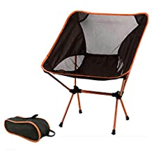 Hi Suyi Portable Lightweight Heavy Duty Folding Outdoor Picnic Beach Travel Fishing Camping Chair Stool Backpacking Chairs,Durable 600D Thicken Oxford Cloth,Sturdy Aluminum Alloy Frame,with Carry Bag