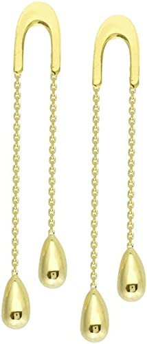 "8mm Diameter Ball Shaped Onyx Dangle Leverback Earrings 14K Solid Yellow Gold 1/"""