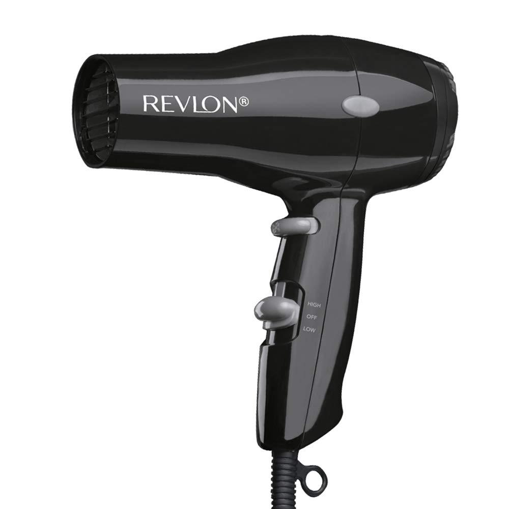 Revlon 1875W Lightweight Compact Travel Hair Dryer, Black: Beauty