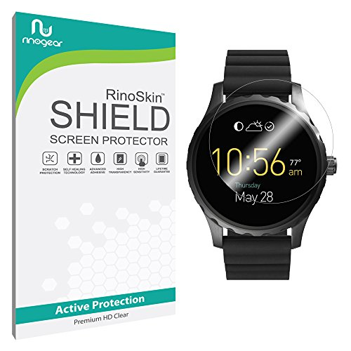 [6-PACK] Fossil Q Marshal Screen Protector Full Coverage [Military-Grade] RinoGear Premium HD Invisible Clear Shield - The Marshal