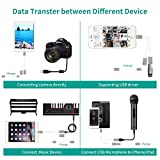 2 in 1 iOS OTG USB Adapter, Meloaudio USB Male to