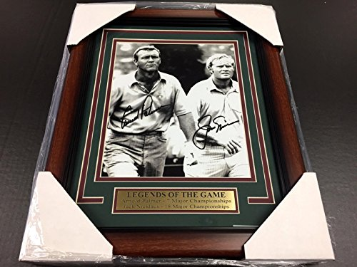REPRINT ARNOLD PALMER JACK NICKLAUS AUTOGRAPHED REPRINT GOLF 8X10 PHOTO FRAMED - Signed Arnold Photo Palmer