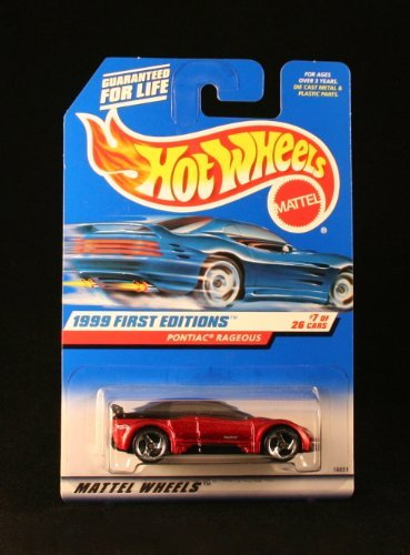 PONTIAC RAGEOUS * METALLIC RED * 1999 FIRST EDITIONS SERIES #7 of 26 HOT WHEELS Basic Car 1:64 Scale Series * Collector #675 *