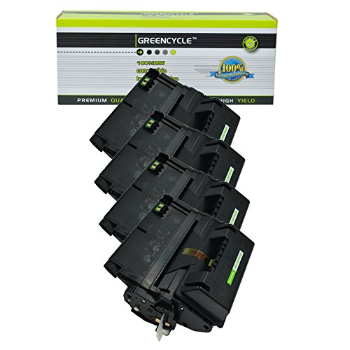 GREENCYCLE 4 Packs 20,000 Pages Compatible HP 42X Q5942X Q5942 Black High Yield Toner Cartridge for HP LaserJet 4200 4250 4250TN 4250N 4250DTN 4300 4350 4345MFP 4350N 4350TN 4350DTN Printer Ink