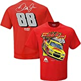 NASCAR Men's Spoiler 2-Spot-Driver/Sponsor T-Shirt-Dale Earnhardt Jr.-Axalta-Red-XXL