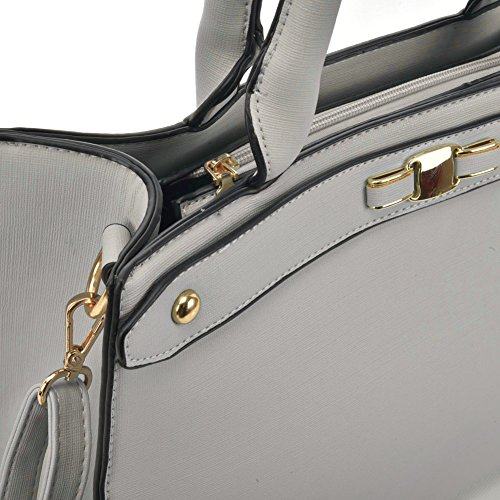 Fashion Detachable ladies SALLY With shoulder Boxy Grey women Bag YOUNG Tote handbags Strap Cwwv5