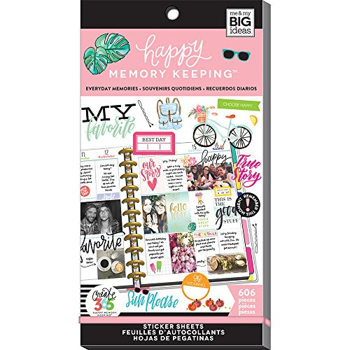 Me & My BIG Ideas PPSV-29-3048 The happy Planner Everyday Memories Stickers