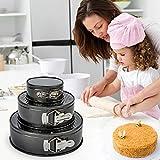 Springform Pan Set,Nonstick Round Cake Pan 3pcs