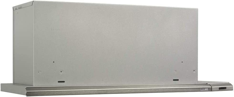 "B000LO8R1E Broan 153004 Silhouette Slide-Out Range Hood Insert with Light, Exhaust Fan for Under Cabinet, Brushed Aluminum, 4.5 Sones, 300 CFM, 30"" 510bzTqLoiL.SL1000_"