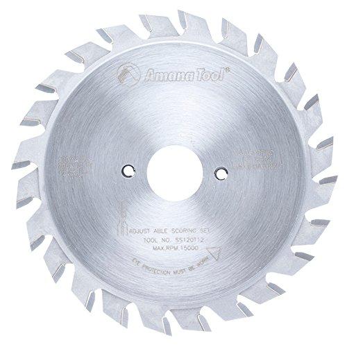 Amana Tool SS120T12 Carbide Tipped Adjustable Type Scoring 120MM D x 24T ATB, 12 Deg, 20MM Bore, Scoring Set