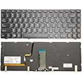 LotFancy Laptop replacement keyboard for IBM Lenovo Ideapad Y480 Y480A Y480M Y480N Y480P Series Fit part numbers NSK-B62BC 01 PK130MZ3B00 25203002 T2B8-US 9Z.N5TBC.201 Laptop / Notebook US Layout /Black with frame/ Backlit