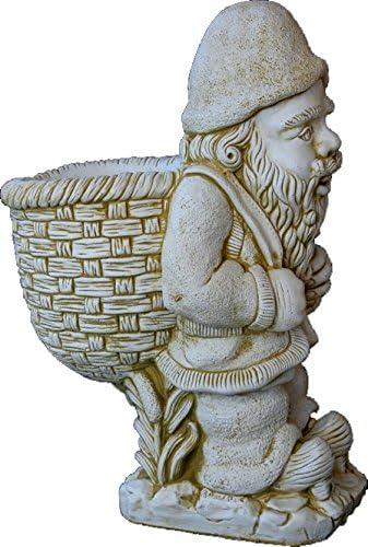 DEGARDEN Figura Decorativa Enano con Saco de hormigón-Piedra para jardín o Exterior 76cm.: Amazon.es: Jardín