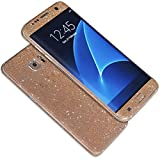 Samsung Galaxy S7 Case,AutumnFall® Luxury Bling Glitter Hard Back Film Case Cover for Samsung Galaxy S7 (Rose Gold)