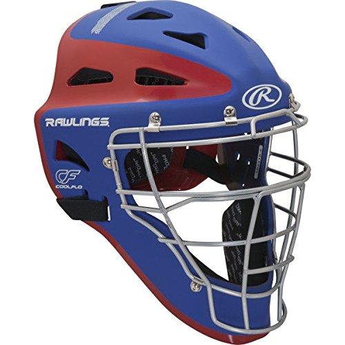 Rawlings Sporting Goods Youth Velo Series Catchers Helmet, Royal/Scarlet, 6 1/2-7'' by Rawlings