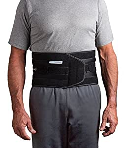 Aspen QuikDraw PRO Medical Grade Back Brace for Lower Back Pain Relief. Lumbar Support Belt with Precise Fit for Compression, Highly Breathable Material for Ultimate Comfort (Black - Large)