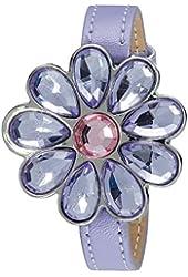 Disney Kids' PN1002 Disney Princess Flower Watch with Leather Band