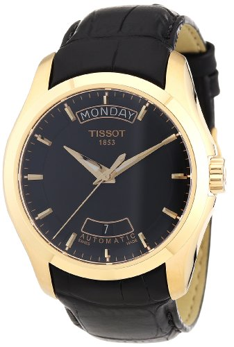 Tissot Men's T0354073605100 Couturier Black Dial Rose Gold PVD coated Case Watch