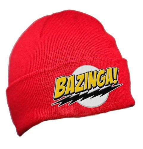 The Big Bang Theory Bazinga Red Knit Hat