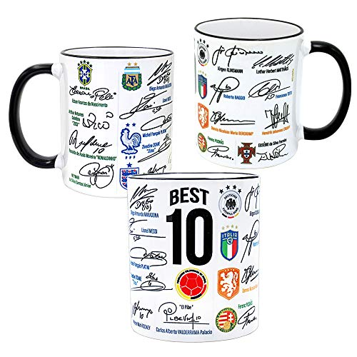 Gio Gifts Best Soccer Players of All Time Autographed Collectible Mug ()