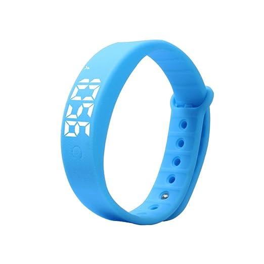 Elegante reloj de pulsera de, Vigilancia de la salud Cuentapasos 3d Moda Impermeable Pulsera-A: Amazon.es: Relojes