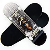 P-Rep Space Monkey 30mm Graphic Complete Wooden Fingerboard w CNC Lathed Bearing Wheels