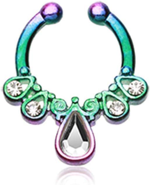 Colorline Opal Grandiose WildKlass Fake Septum Clip-On Ring