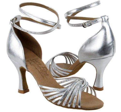 Chaussures Très Fines Signature Série S1001 Échelle Argent Et Cuir Argent
