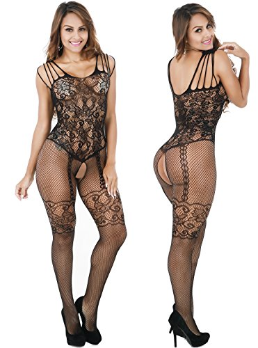 VEVESMUNDO Sexy Lingerie for Women Bodysuits Babydoll Lace Crotchless for Women Lovers Couples