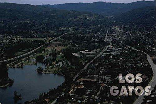 Amazon.com: Aerial View of Town and Lake Vasona Los Gatos, California Original Vintage Postcard: Entertainment Collectibles