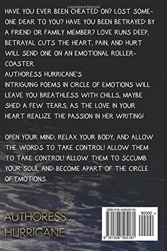 Circle Of Emotions Authoress Hurricane 9781508505181 Amazoncom
