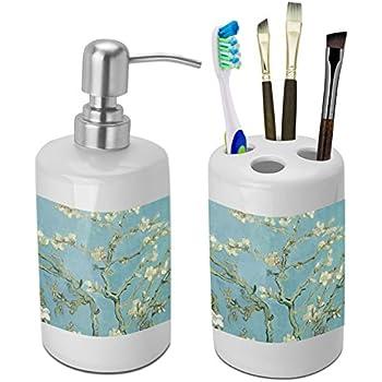 Apple Blossoms (Van Gogh) Bathroom Accessories Set (Ceramic)
