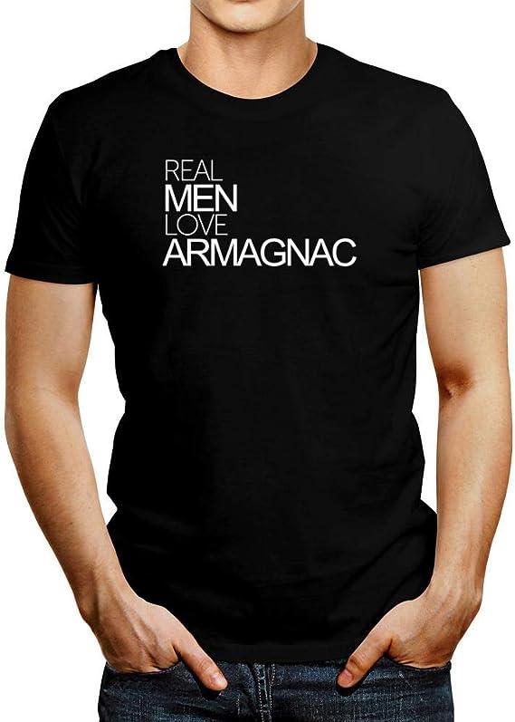 Idakoos Real Men Love Armagnac Bold T-Shirt L Black