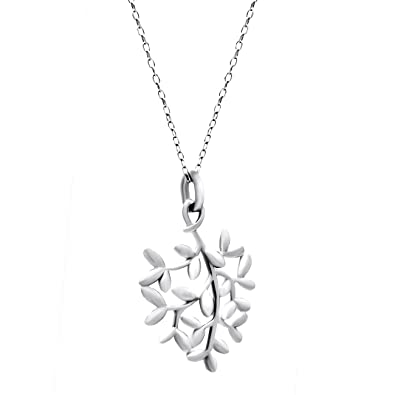 925 Real Sterling Silver Charm Women's Open Heart the Family Tree of Life Three Stone Pendant Necklace Gift for Her ZoZ8lwQd
