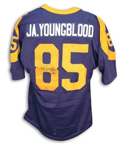 new arrival f5a57 9f03c Autographed Jack Youngblood Los Angeles Rams Throwback ...