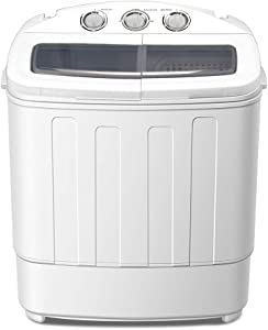 GOTOTOP Portable Washing Machine Compact Twin Tub Washer and Spain Spinner Laundry Clothes Washer Mini Washing Machine 19lbs Capacity,11lbs for Washing and 8lbs for Spinning