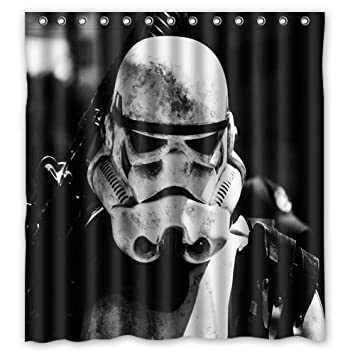 Custom Fashion Design Star Wars Stormtrooper Shower Curtain Home Decoration Mildew Waterproof Polyester Fabric Bathroom