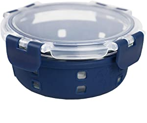 Michael Graves Design B08NK8YP7N Food Storage Container, 13 Ounce, Indigo