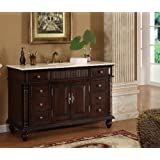"53"" Wood Solid Large Single Sink Brockton Bathroom vanity Model K2261M"